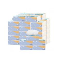 简舍 天然竹浆白色甄柔抽纸40包/箱 超值家庭装JS-2009-40纸巾