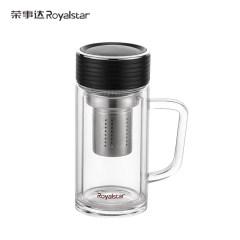 荣事达茗品玻璃办公杯 RB1802-360B 黑色 360ml