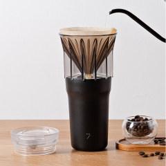 7次方 手冲咖啡杯 黑色 无