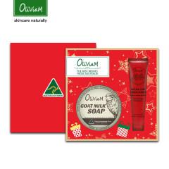 Oliviam澳莉维亚/澳洲红色二件套礼盒(羊奶皂+木瓜膏)