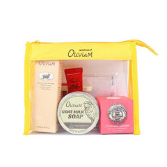 Oliviam澳莉维亚/黄色旅行风套装(护手霜+羊奶皂+木瓜膏+绵羊油)