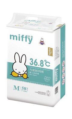 Miffy米菲纸尿裤超薄36°恒温会呼吸的纸尿裤M码(58片) M(58片)
