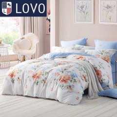 罗莱家纺LOVO尚品套件-唯美田园 魅力格调 清幽蔓谷 双人床三色可选 清幽曼谷(白底红花) 2米床