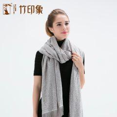 新品竹纤维围巾高档女士围巾情侣礼物保暖护肩磁疗围巾黑色灰色肤色三色可选
