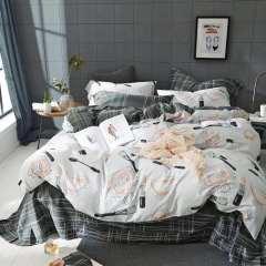 北欧时尚全棉活性四件套床上用品套件床单被套