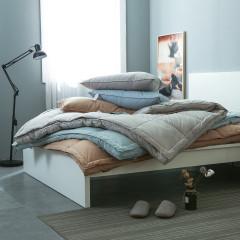 无印全棉加厚羽绒床垫无印同款白鹅绒丝冬季保暖床褥子