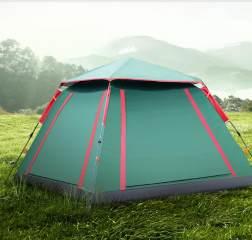 探险者帐篷野外露营一门三窗户(送防潮垫)