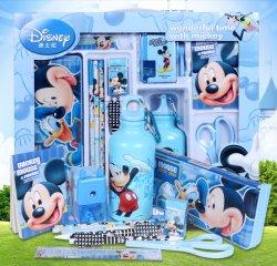 迪士尼(Disney)小学生文具套装礼盒米奇保温杯水壶
