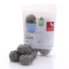 中粮出品:简沃清洁球/钢丝球JQ-1502*2袋(6只/袋,共12只)正品!包邮!