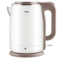 Joyoung/九阳 K15-F5电热水壶开水煲电水壶 304不锈钢家用保温1.5L 白色 1.5L