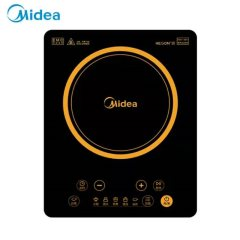 美的(Midea)电磁炉 HT2218HM 家用触摸式大功率速热 定时黑晶面板 防水电磁炉灶 黑色