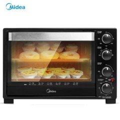 美的(Midea)电烤箱 家用32L大容量烘焙多功能自动烤箱 黑色+银色
