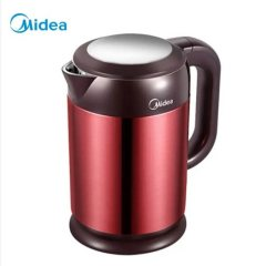 美的(Midea)电热水壶烧水壶热水壶电水壶1.7L大容量304不锈钢HJ1708a 红色 1.7升