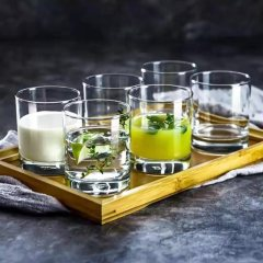 Ocean进口玻璃杯子家用水杯茶杯果汁杯牛奶杯威士忌洋酒杯205ML6只套装 6个装 205 ml