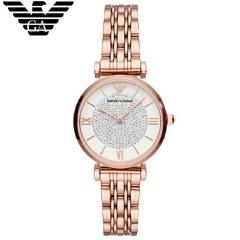 阿玛尼(Emporio Armani)满天星手表钢质表带时尚休闲石英女士腕表 AR11244 高贵金