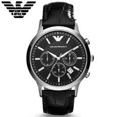 阿玛尼(Emporio Armani)手表 男表简约时尚闪耀三眼计时男士手表 非机械AR2447 绅