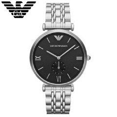 阿玛尼(Emporio Armani)手表 钢质表带休闲商务 石英防水男士腕表 AR1676 绅士黑