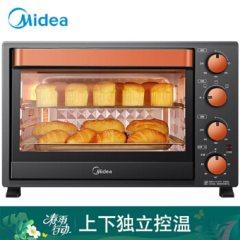 美的(Midea)家用多功能电烤箱 35升广域控温上下管独立控温微波炉可做小米点心 黑色 黑色