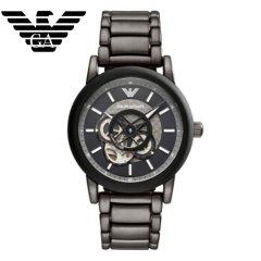 阿玛尼( Emporio Armani)手表男士机械表AR60010钢带时尚个性男士全自动镂空石英表