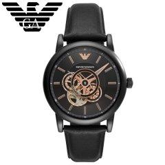 阿玛尼 (Emporio Armani ) 手表男士机械腕表AR60012镂空设计皮带男表机械表 绅