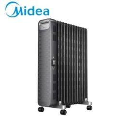 美的(Midea)取暖器电暖器烤火炉油汀13片家用办公室干衣2200W恒温 黑色NYX-G1 黑色