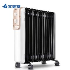 艾美特(Airmate)取暖器电暖器家用电热油汀电暖气片 13片加宽 带烘干衣架HU1329-W 白