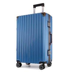 浮游客 时尚铝框拉杆箱行李箱万向轮20寸22寸24寸26寸箱包学生旅行箱男女时尚 深灰色 22寸