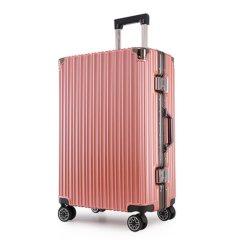 浮游客 时尚铝框拉杆箱行李箱万向轮20寸22寸24寸26寸箱包学生旅行箱男女时尚 深灰色 24寸