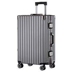 浮游客 时尚铝框拉杆箱行李箱万向轮20寸22寸24寸26寸箱包学生旅行箱男女时尚 深灰色 26寸