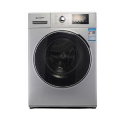夏普(SHARP)XQG90-2748W-H 9公斤全自动滚筒洗衣机 中途添衣 防缠绕