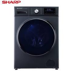 夏普(SHARP)10公斤变频滚筒洗衣机 全自动 空气洗 洗烘一体 XQG100-6369W-H