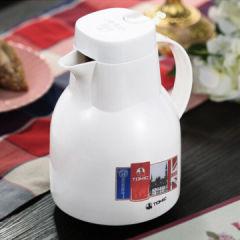 英国特美刻 玻璃内胆保温壶保温暖瓶 热水壶1JBS2059U 1000ml 白色 白色 1000ML