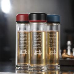 英国特美刻 玻璃杯 防烫 双层 隔热1BSB9511-350 350ml 黑色