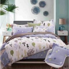 圣米歇尔家纺 健康印花全棉件套 床品四件套 被套 床单 枕套-时光漫步