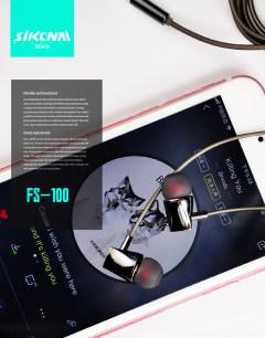 思科耐电镀音乐耳机FS-100