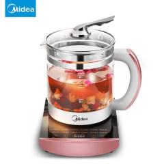美的GE1701养生壶全自动加厚玻璃多功能电热烧水壶花茶壶煮茶