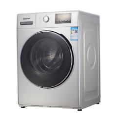 夏普(SHARP)XQG100-2758W-H 10公斤全自动滚筒洗衣机 中途添衣 防缠绕