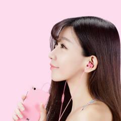 小米活塞耳机 炫彩版(超值装)通用耳麦手机线控耳塞 丁香紫 包邮