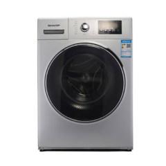 夏普(SHARP) XQG80-2748W-H 智控变频滚筒洗衣机8KG 中途添衣 防缠绕洗衣机