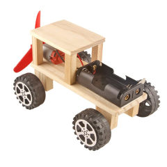 尔苗 小学生STEAM科学实验套装男孩玩具手工制作儿童机器人物理电子科学小实验电路玩具 吉普车套装