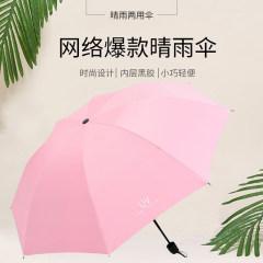 优品黑胶晴雨伞
