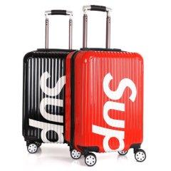 万向轮时尚旅行箱20寸sup网红行李箱 红色 20寸