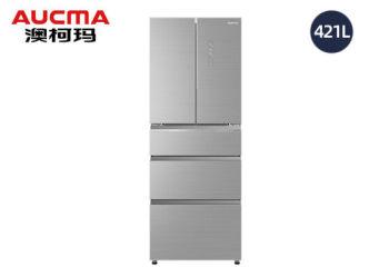 澳柯玛法式五门风冷冰箱BCD-421WPGXI晶钻银