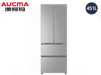 澳柯玛法式四门风冷冰箱BCD-451WPGXI晶钻银