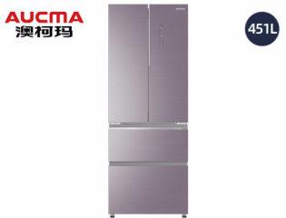 澳柯玛法式四门风冷冰箱BCD-451WPGXI晶钻紫