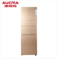 澳柯玛三门玻璃面板风冷冰箱BCD-269WPG星钻银