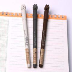 (富连网体验馆自提)晨光文具AGP15004韩版猫咪可爱中性笔 萌宠小物全针管0.38mm 黑色 A