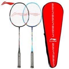 李宁LI-NING 羽毛球拍双拍全能型碳素中杆男女复合对拍610