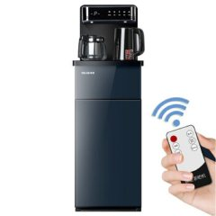美菱 茶吧机 家用多功能智能遥控温热型立式饮水机 办公室饮水器 MY-YT908 黑色 340*32