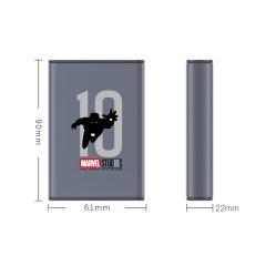 漫威系列-10000毫安移动电源 S15(钢铁侠十周年版) 灰色